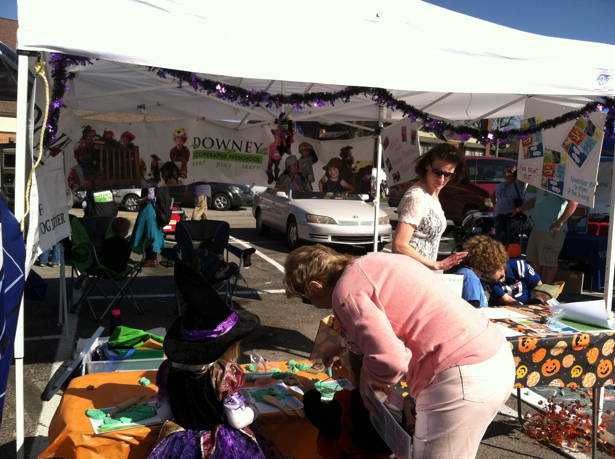 Downey Co-op Preschool booth at the Irvington Halloween Festival ...