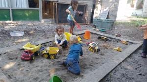 Tues-Thurs Tadpoles Enjoying the Sandbox.