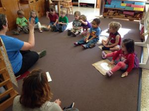 Circle Time with Mrs. Egan for Wed-Friday Tadpoles.