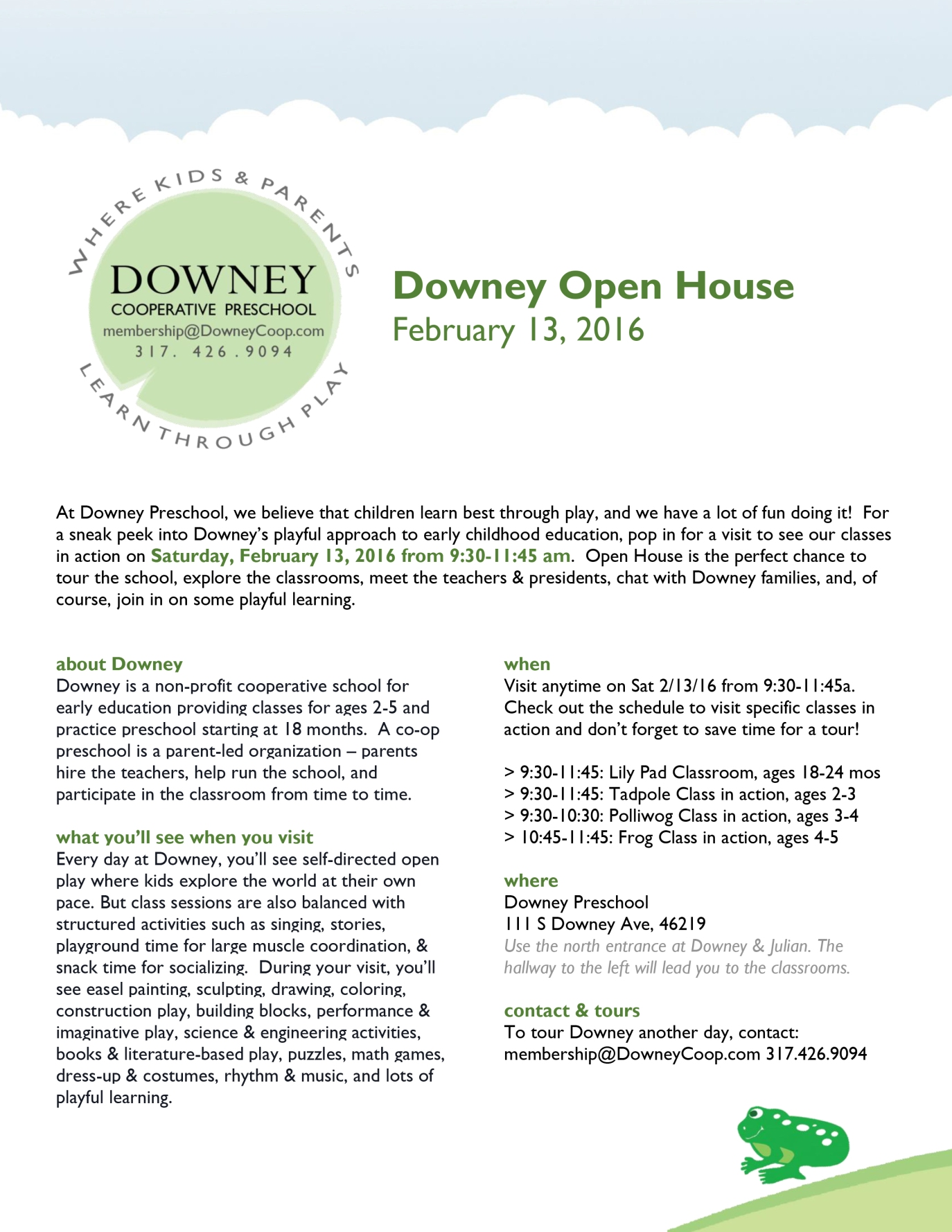 Open House 2-13-16